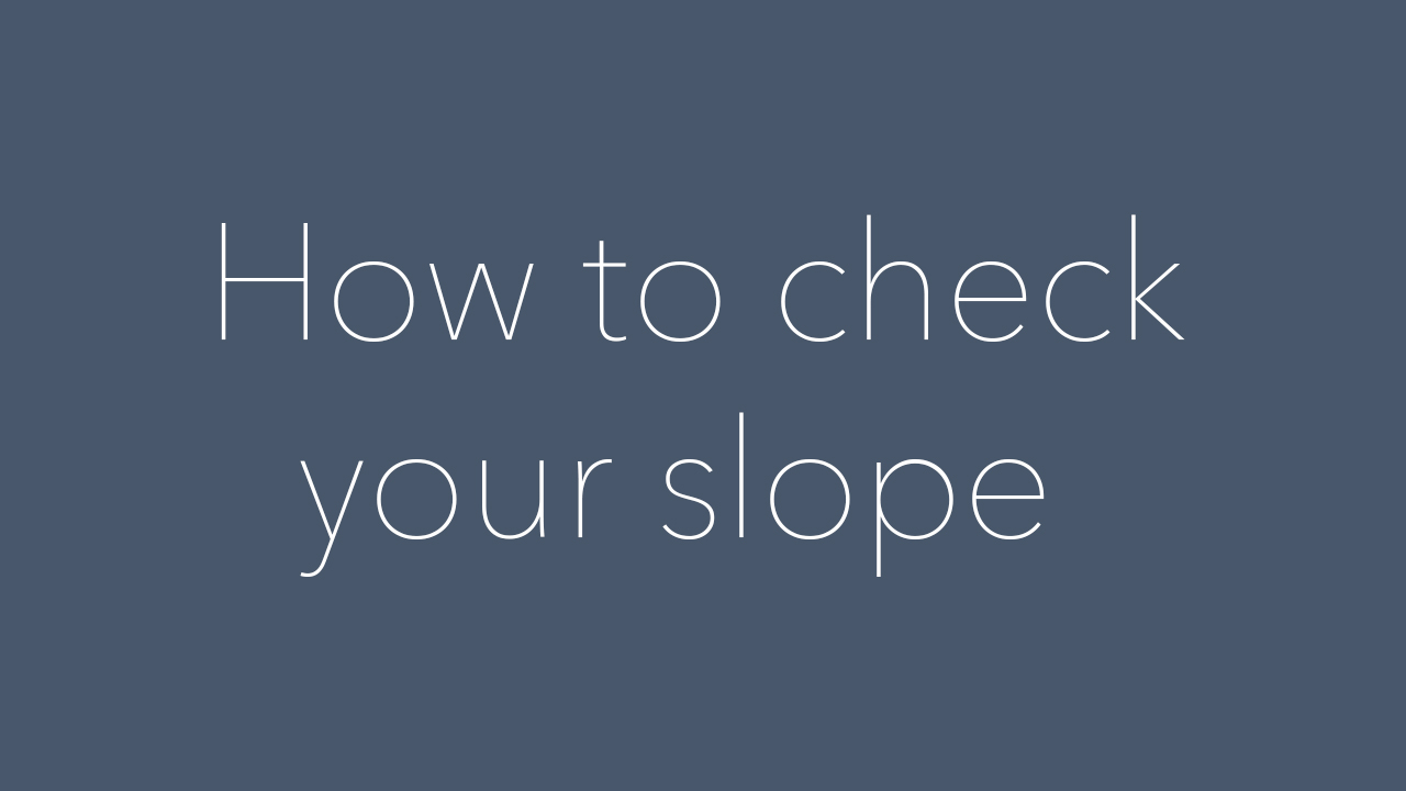 Slope Checking Guide by NiceRink