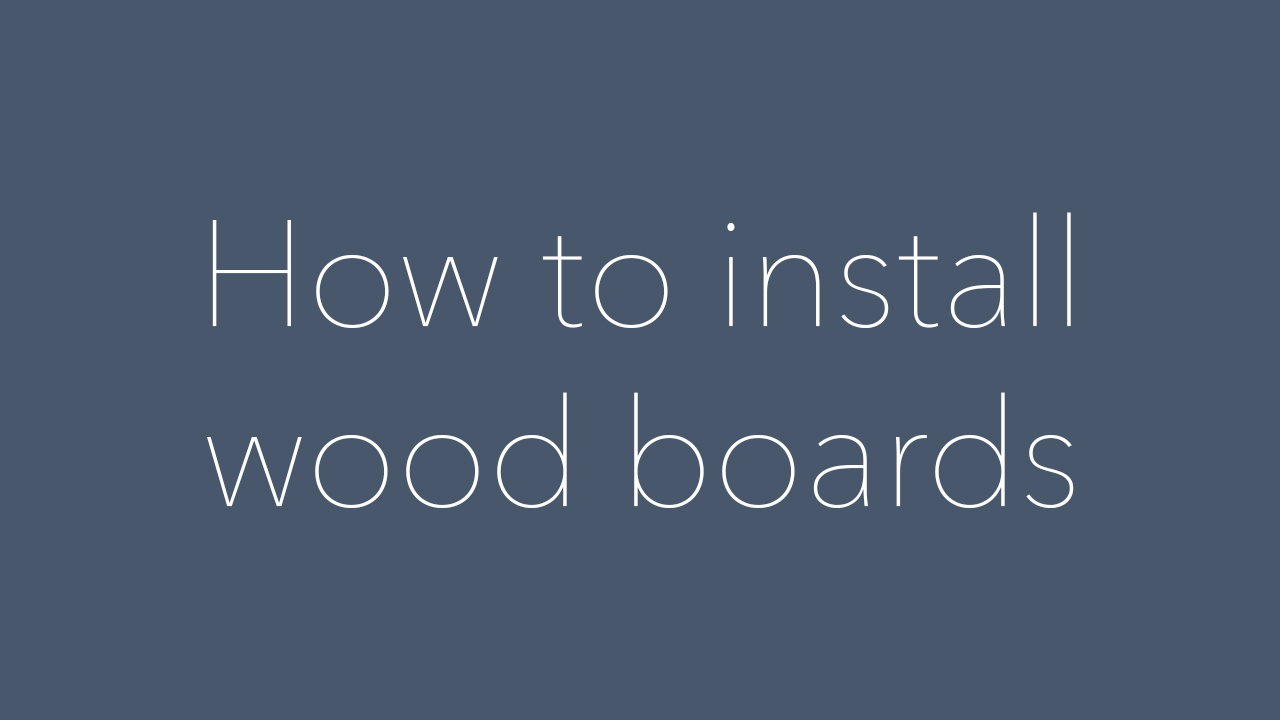 Wood Boards Installation Guide by NiceRink